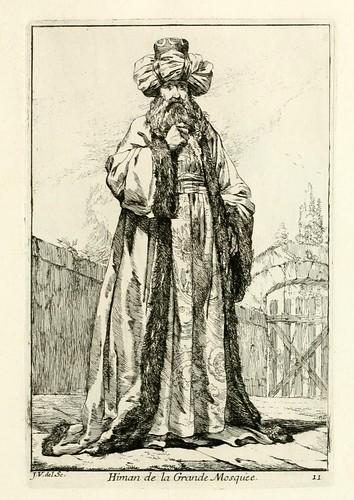010-Iman de la Gran Mezquita-Caravanne du sultan ala Mecque…1748- Joseph Vien