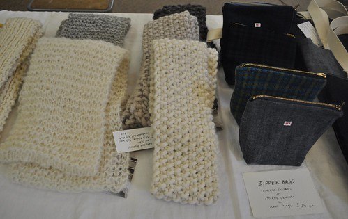 Hand Knit Scarves and Bags by Jill Bent