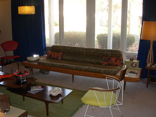 Looong Gondola Couch, Paul Mccobb Chair, Looong Danish Table