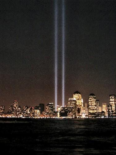 World Trade Center Lights 9.11.03