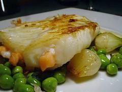 Filet de barbue lardé de saumon fumé, sauce Albert Roux_modifié-1