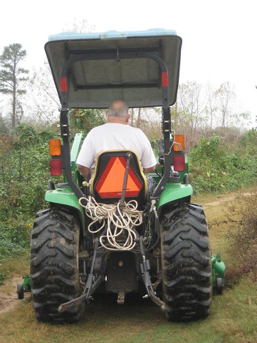 bennie on the tractor