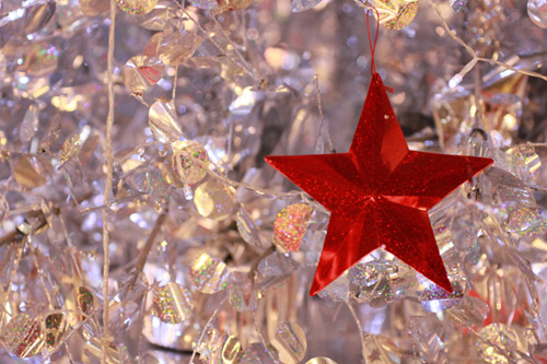 Red Star Christmas Deco