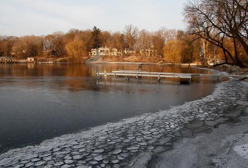 Icy shoreline