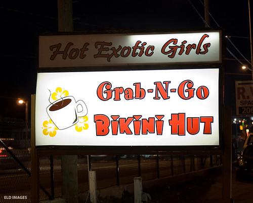 Grab-N-Go Bikini Hut. With a temperature at 19°F,