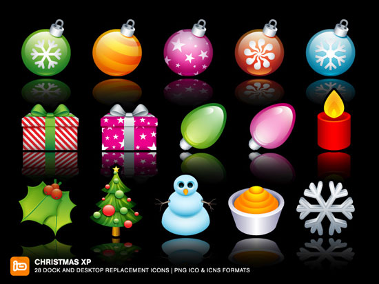 25+ Beautiful Christmas Icon Sets