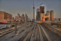 Tracks to Union Station (Bonuel) Tags: sky toronto ontario canada landscape flickr cityscape artistic hdr dec13 day347 photomonday007 tgamcitystreetscapes