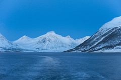 Lauksund (knutmsa) Tags: morning blue winter light sea mountain snow mountains nature norway landscape islands boat seaside natur bluesky arctic nikkor northern f28 troms winterscene 50mmf12 snowcoveredmountains northernnorway nikkor50mmf12 nikon50mmf12 arny lauksund lauky