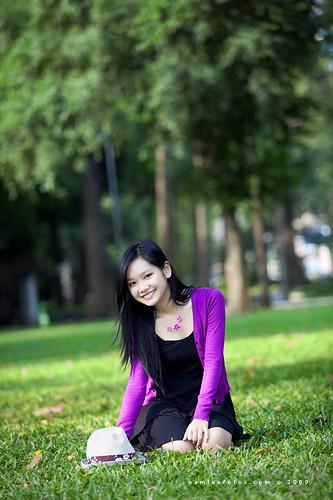 hình chân dung ngoại cảnh Minh Vân - Coco Van Nguyen
