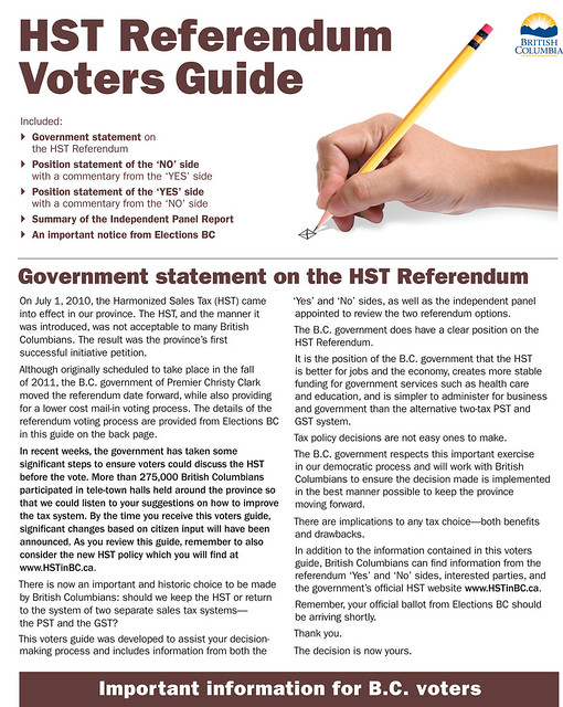 HST Voters Guide on its way to voters
