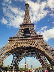 The Eiffel Tower (williamcho) Tags: park city paris france tourism buildings cityscape eiffeltower landmark champdemars attraction sevenwonders digitalimaging seineriver ironlady kartpostal globalicon flickrestrellas topazlabadjust williamcho sonydscwx1 patrickcheah ironladyofparis