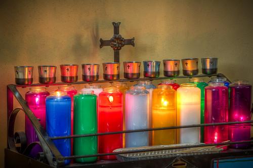 Prayer Candles at Holy Family Church