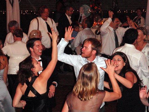 High-fives were in the vows and on the dancefloor.