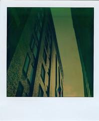 (Jetsetter23) Tags: travel streets polaroid sx70 alley pittsburgh cityscapes polaroids visuals damaged 2009 tz timezero analogfilm polapremium