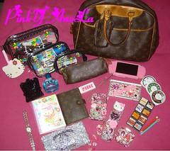 ★What's in My Bag 7.3.09★ (Pinky Anela) Tags: japanese hellokitty sanrio kawaii whatsinmybag lv louisvuitton mymelody pinkyanela
