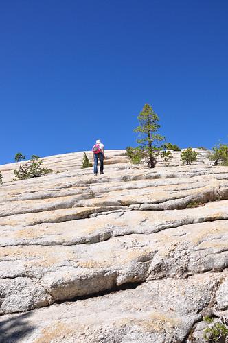 Climbing to Lambert Dome