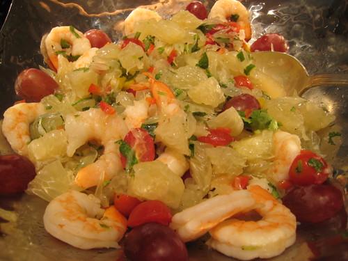 Salad Station: Prawns and Pomelo Salad