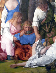 Giovanni Bellini and Titian, The Feast of the Gods detail