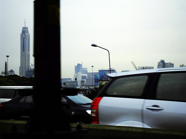 on the expressway