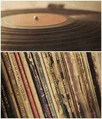 Vinyl Love (tyler.elizabeth) Tags: music records texture vintage diptych vinyl scratches turntable retro collection recordplayer bobdylan thebeatles