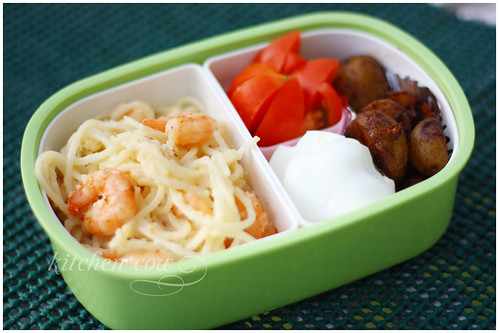 Bento with Pasta and Baby Potatoes