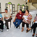 Respondiendo las preguntas - iz a der - Alma A. Castañeda y Salvador Lozano, Abel Ortíz y Betty Amezcua, Guille Peña.