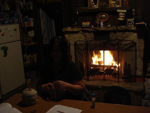 cabin-evening-knitting