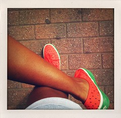 Watermelon Vans (Cherrybomb Ink) Tags: summer ink pumps sneakers trainers watermelon canvas vans authentic cherrybomb skateshoes happyshopper usonly cherrybombink fruitpack