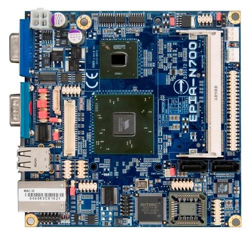 VIA EPIA N700 Nano-ITX Board-Top