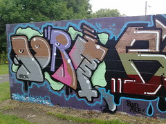 ogre (pranged) Tags: pool rose swimming graffiti greg 26 leeds bank crew kens em ep bsa kus 2061 tsm tfa phuck lank phibs thk