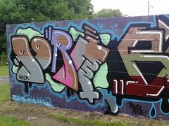 ogre (pranged) Tags: pool rose swimming graffiti greg 26 leeds bank crew kens em ep bsa kus 2061 tsm tfa phuck lank phibs thk