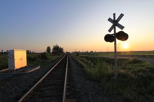 Railroad crossing in Quebec...