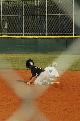 Stealing second base