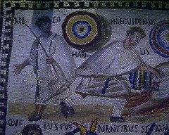 Gladiadores (ovando) Tags: madrid mosaico romano museo lucha arqueologa ludi gladiador