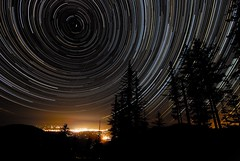 Night Watch (Joshua Bury) Tags: sky night oregon stars nikon trails d200 startrails polaris northstar startrail grantspass roguevalley