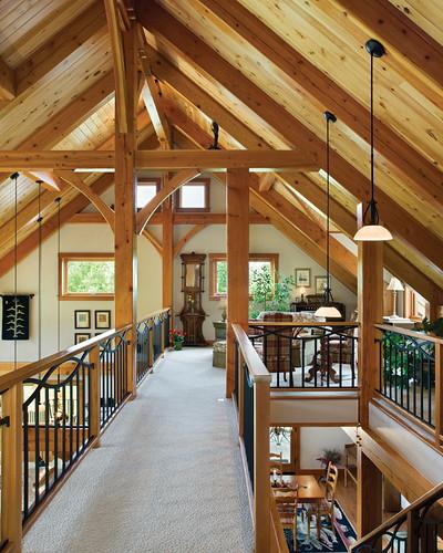 hillside timber cottage timber frame home loft