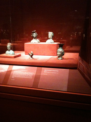 Miniature busts, Afghan art exhibit, Met Museum