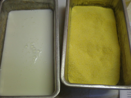 Each spear went from buttermilk to cornmeal, back to buttermilk and then the cornmeal again.
