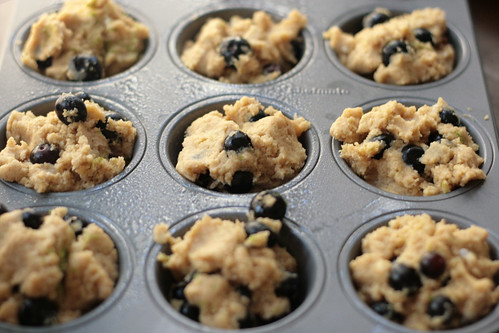 Blueberry Lime Muffins 2 -- Muffin Batter in Pan