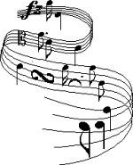 Wavy Music Staff (kmamusic) Tags: music symbol note clipart