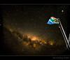 Patriotic sky... (Chantal Steyn) Tags: sky colour night dark stars southafrica nikon flag flash tripod fisheye galaxy patriot f18 30sec milkyway d300 nohdr goughisland