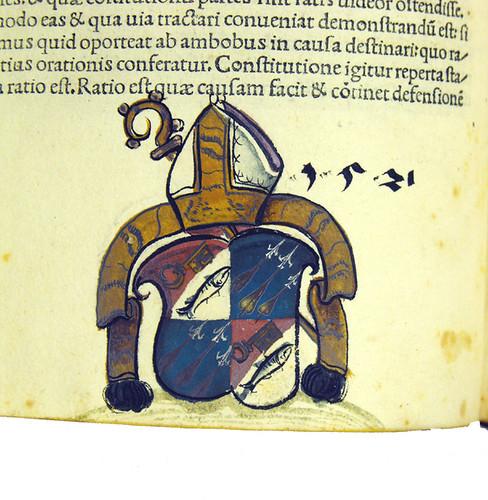 Painted coat of arms in Cicero, Marcus Tullius [pseudo-]: Rhetorica ad C. Herennium