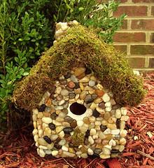 stone birdhouse (julianabreeze) Tags: birds rocks recycling birdhouses repurposing handmadebirdhouses ideasforrocks craftingwithrocks momswhocraft craftingmoms