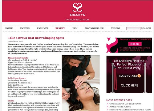 "Best Brow Shaping Spots - Shecky's Beauty Hot Lists • <a style=""font-size:0.8em;"" href=""http://www.flickr.com/photos/13938120@N00/3950833079/"" target=""_blank"">View on Flickr</a>"