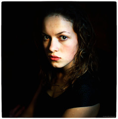 portrait of a young lady (pixelwelten) Tags: portrait color colour art analog mediumformat kunst hamburg sensual medium format nah analogue emotional delicate intimate mittelformat intim sinnlich nachhaltig pixelwelten rdigerbeckmann wwwpixelweltende beyondvanity jenseitsvoneitelkeit