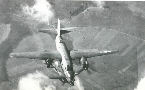 Warbird picture - Martin B-26 Marauder,flak just blew off right engine