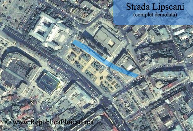 Strada Lipscani - localizare actuala