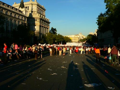 18:42 Cola manifestación en C. Alcalá por Manifestómetro.