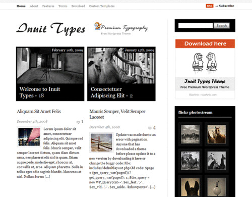 InuiTypes-Wordpress-Typography-Theme-Demo