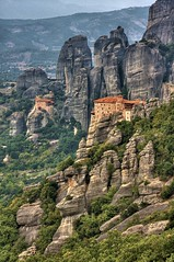 Meteora (_skynet) Tags: lighting trip travel light vacation holiday mountains photoshop movie greek james aperture europe republic central hellas monk christian greece backpacking sacred planet bond lonely traveling orthodox hermit hdr pinnacles pinnacle hella jamesbond meteora foryoureyesonly monasteries hellenic 3xp photomatix rousanou centralgreece bluelist anapausas theholymonasteryofstnicholasanapausas